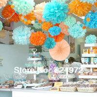 6'' inch (15cm) Customized hanging decorative flower ball Hanging decorative flower ball for wedding party paper lanterns
