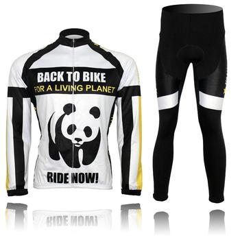 Eco-friendly 13 constant star giant panda ride fleece jacket bicycle autumn and winter suspenders fleece set
