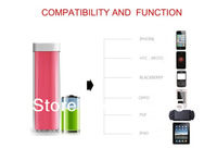Wholesale 100pcs Fedex/ TNT lipstick 2600mAh External Battery Pack Charger USB Battery Power Bank for Iphone/Ipad/Nokia