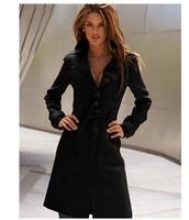 Free shipping 2013 Autumn Winter women's garment women's X-long sexy wool outwear casual long jacket trench coat for women