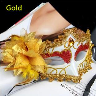 Venda direta da fábrica ShengQuanSide máscara flor princesa requintado strass renda veneziana desenho colorido(China (Mainland))