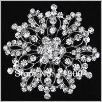 6pcs/lot Factory Wholesale 2013 fashion Cheap Austrian Crystal Flower Rhinestone Women Brooches for wedding Christmas gift