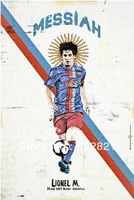 Hot sale!Free shipping football fan poster/painting/frame with new arrival barca messi photo football fan souvenir