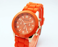 Fashion geneva jelly silica gel unisex watches fashion table watch table