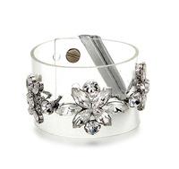 jelly wristband vintage hollywood recommend Crystal Flower Bracelet pvc transparent bangle