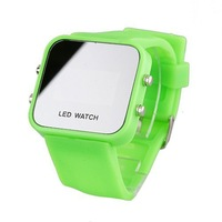 Baolihao Silicone Band Women Men Unisex Jelly Sport Style Square LED Wrist Watch WTH0365