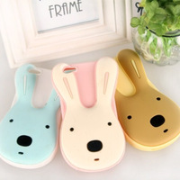 Free shipping Colorful cute lovely 3D cartoon rabbit silicon case for iPhone 4/4S