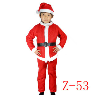 hot sale Christmas hat christmas set Christmas clothes santa claus clothes  dancing Halloween costume free shipping