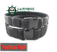 tactical Army belt nylon webbing Strengthening Airsoft Paintball Trainer Waistband black for choose two Width
