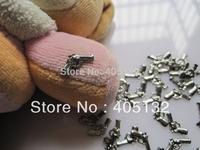 MD-501 3D 50pcs/bag Gunmetal Gun Shape Nail Decoration Metal Shinny Metal Nail Art Decoration