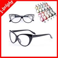 I-bright hot sale new fashion retro cat eye eyeglasses frame woman decoration plain mirror female star style free shipping