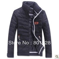 KINGTIME FREESHIPPING Men's jacket padded collar warm jacket leisure fashion leather coat Asian size:M-XXL KTG167