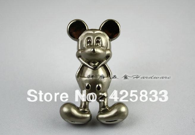 10 stück silber mickey mouse Drehregler kommode zieht und modernen rabatt küchenschrank baby kabinett zieht großhandel