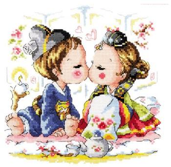 Counted Cross Stitch kit Korean Wedding Needlework CR1102
