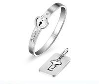 2014 Pulseiras Quantities Chongshangyunxiao Two Bracelets With Paragraph Fala Chen With Titanium Steel Bangle Bracelet Hot Locks