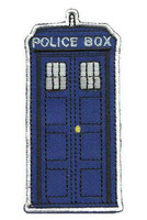 The Police Box Doctor Who Tardis punk rockabilly applique sew on/ iron on patch Wholesale Free Shipping