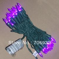 Free Shipping 20 Sets UL 50L 5M Purple 3mm Mini Icicle LED Holiday Christmas Lights