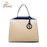 Fashion plaid 2013 female bags ol fashion vintage handbag handle bag free shipping