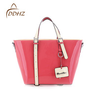 2013 women's handbag one shoulder women's japanned leather  candy messenger bag free shipping