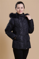 Old-age fashion quality medium-long down coat large size plus size plus size