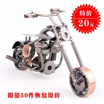 Handmade home decoration motorcycle fashion modern furniture accessories small decoration souvenir