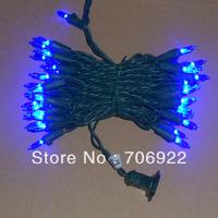 Free Shipping 20 Sets UL 50L 5M Blue 3mm Mini Icicle LED Holiday Christmas Lights