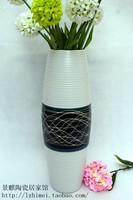 Modern brief fashion floor vase flower entranceway decoration black-and-white brief