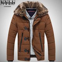 Free Shipping2012 Men Coats Long Jackets Fashion Detachable Fur Hood Outware Warm Clothes Winter Down Coat Wholesale Retail