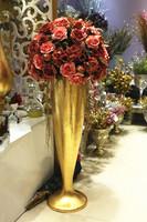 Modern fashion glazed steel floor vase set fashion modern home decoration