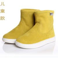 Buz cowhide child snow boots parent-child male child girls shoes 2013 child boots waterproof boots