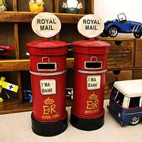 The streets of London England style mailbox decorations Retro nostalgia Iron sheet Piggy bank Money Boxes