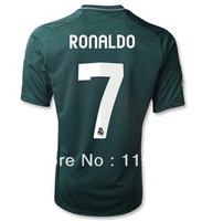 Thai thailand quality 2012 2013 Real Madrid home white soccer jersey 7 ronaldo football shirt soccer jerseys Freeshipping NEW