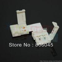 10PCS L-Shape 10mm Quick Splitter Right Angle Corner Connector 2-Condusctor for 5050 Single Color LED Strip Light