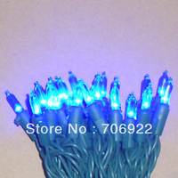 Free Shipping 10 Sets UL 50L 5M Blue 3mm Mini Icicle LED Christmas Holiday Lights String