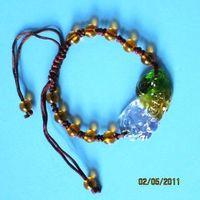 Colored glaze lucky pi xiu bracelet