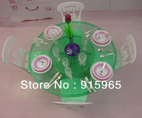 New arrival new year/birthday gift play house for children furniture for doll Dinner table Set for barbie doll