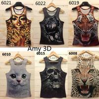 [Magic] 2013 Free shipping men /women t shirt mens o-neck Fashion vest  3d cotton t shirt ,3D printed t-shirts for man 21model