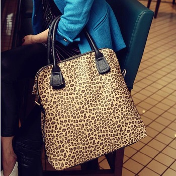 0205Free Shipping HOT women's handbag 2013 leopard print bag one shoulder cross-body vintage leather handbag male messenger bag