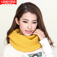 Autumn and winter yarn scarf muffler women's thickening winter thermal scarf pullover