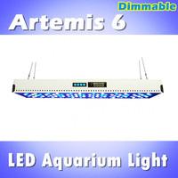 Debut! Artemis 6 LED aquarium light 72*3W remote controller dimmable& timer programble, white: blue =1:1 (customizable)