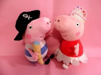 Stuffed Animals Plush Movies & TV toys Peppa pig+george pig 30cm high