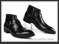 Free shipping new 2013 hightop leather ankle boot,snow boots australia men's leather boots 38-45