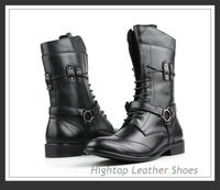 Free shipping new 2013 men's full grain leather,outdoor boots,army boots ,fashion boots,black/brown,38-44
