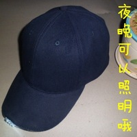 100% cotton baseball cap , luminous led cap with light casual hat