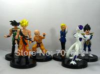 6x New PVC 13CM Dragon Ball Z Action Figures Frieza/Goku/Vegeta Anime Figures Toys Best Gift Collectio Free Shipping