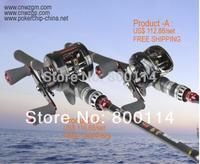 free shipping 2.1 meters fishing rod, hard lure rod light lure set drop drum wheel set