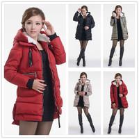 2014 winter fashion  thick down cotton long women coats
