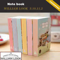 Free shipping Stationery cute Floating town books pastels notebook diary book notepad school 6pcs/lot promotion gift JP310112