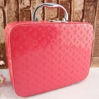 Free shipping Cosmetic bag large capacity professional vintage storage bag hot-selling women's handbag makeup box women's gift