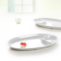 Quality porcelain japanese style irregular melamine plate mug-up barbecue plate